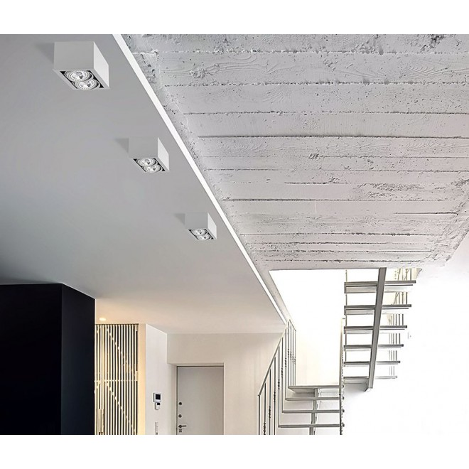 NOWODVORSKI 9472 | BoxN Nowodvorski stropne svjetiljke svjetiljka izvori svjetlosti koji se mogu okretati 2x GU10 / ES111 bijelo