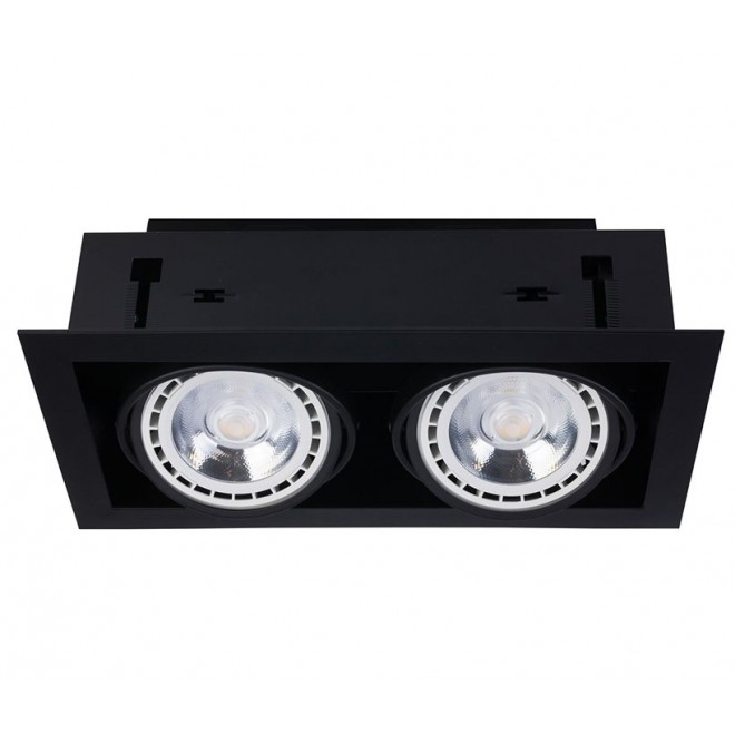 NOWODVORSKI 9570 | Downlight Nowodvorski ugradbene svjetiljke - snažnozračne svjetiljke svjetiljka izvori svjetlosti koji se mogu okretati 190x354mm 2x GU10 / ES111 crno