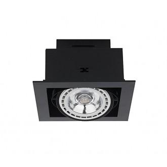 NOWODVORSKI 9571 | Downlight Nowodvorski ugradbene svjetiljke - snažnozračne svjetiljke svjetiljka izvori svjetlosti koji se mogu okretati 190x190mm 1x GU10 / ES111 sivo