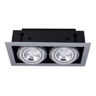 NOWODVORSKI 9572 | Downlight Nowodvorski ugradbene svjetiljke - snažnozračne svjetiljke svjetiljka izvori svjetlosti koji se mogu okretati 190x354mm 2x GU10 / ES111 bijelo