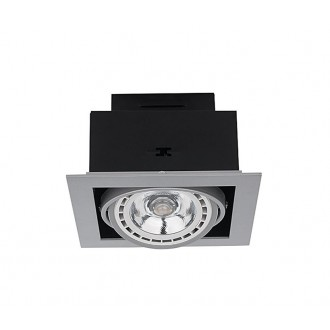 NOWODVORSKI 9573 | Downlight Nowodvorski ugradbene svjetiljke - snažnozračne svjetiljke svjetiljka izvori svjetlosti koji se mogu okretati 190x190mm 1x GU10 / ES111 sivo
