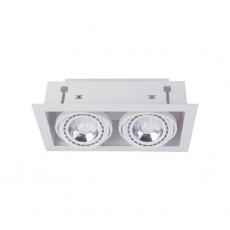 NOWODVORSKI 9574 | Downlight Nowodvorski ugradbene svjetiljke - snažnozračne svjetiljke svjetiljka izvori svjetlosti koji se mogu okretati 190x354mm 2x GU10 / ES111 bijelo