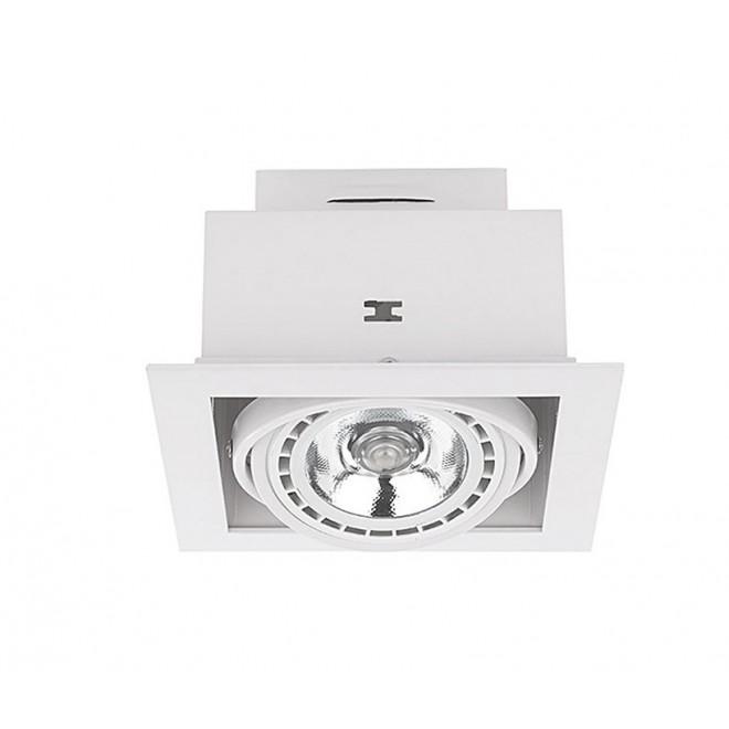 NOWODVORSKI 9575 | Downlight Nowodvorski ugradbene svjetiljke - snažnozračne svjetiljke svjetiljka izvori svjetlosti koji se mogu okretati 190x190mm 1x GU10 / ES111 bijelo