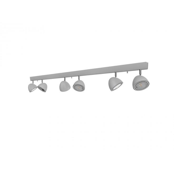 NOWODVORSKI 9591 | Vespa Nowodvorski zidna, stropne svjetiljke svjetiljka elementi koji se mogu okretati 6x GU10 / ES111 srebrno