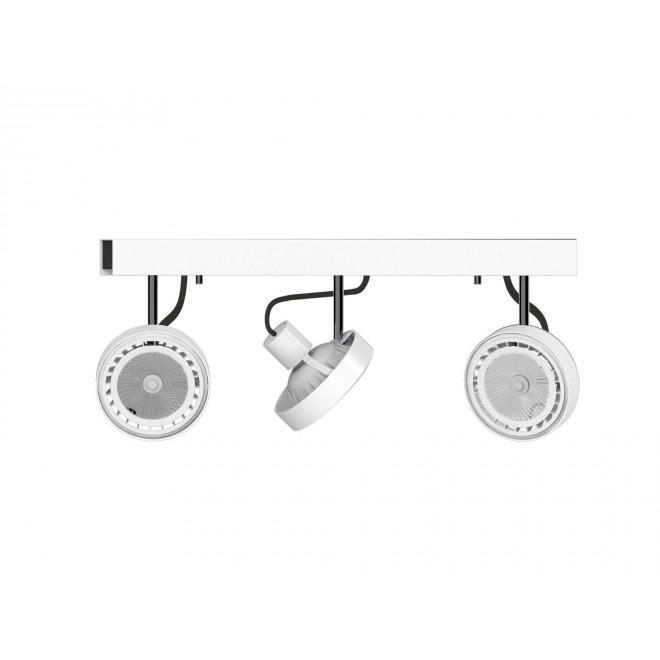 NOWODVORSKI 9601 | Cross Nowodvorski zidna, stropne svjetiljke svjetiljka elementi koji se mogu okretati 3x GU10 / ES111 bijelo, grafit