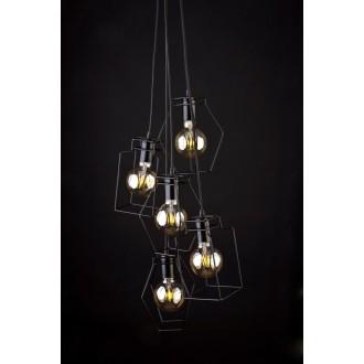 NOWODVORSKI 9665 | Fiord Nowodvorski visilice svjetiljka 5x E27 crno