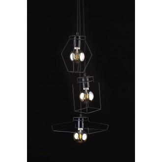 NOWODVORSKI 9666 | Fiord Nowodvorski visilice svjetiljka 3x E27 crno