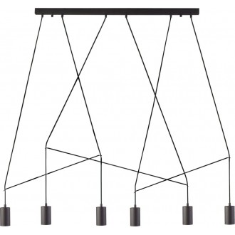 NOWODVORSKI 9675 | Imbria Nowodvorski visilice svjetiljka 6x GU10 crno