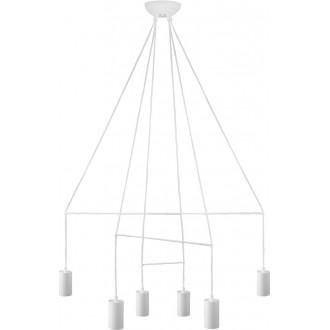 NOWODVORSKI 9676 | Imbria Nowodvorski visilice svjetiljka 6x GU10 bijelo