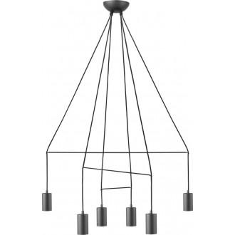 NOWODVORSKI 9677 | Imbria Nowodvorski visilice svjetiljka 6x GU10 crno