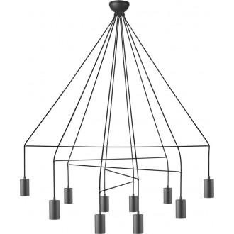 NOWODVORSKI 9680 | Imbria Nowodvorski visilice svjetiljka 10x GU10 crno