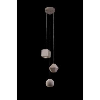 NOWODVORSKI 9695 | Geometric Nowodvorski visilice svjetiljka 3x GU10 sivo