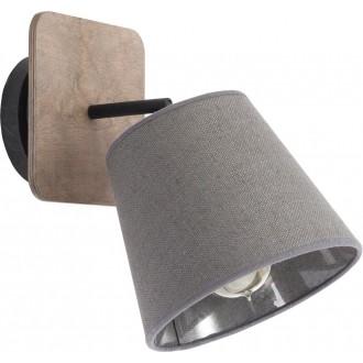 NOWODVORSKI 9718 | Awinion Nowodvorski zidna, stropne svjetiljke svjetiljka elementi koji se mogu okretati 1x E27 sivo, drvo