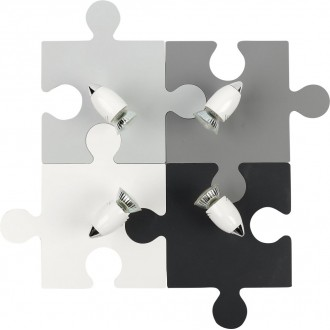 NOWODVORSKI 9728 | Puzzle Nowodvorski zidna, stropne svjetiljke svjetiljka elementi koji se mogu okretati 4x GU10 sivo, bijelo, crno