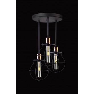 NOWODVORSKI 9740 | Manufacture Nowodvorski stropne svjetiljke svjetiljka elementi koji se mogu okretati 3x E27 crno, crveni bakar
