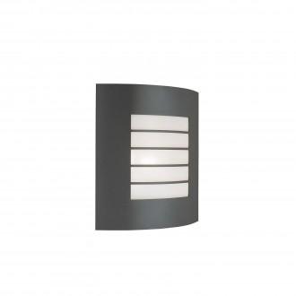 PHILIPS 01726/01/93 | Oslo Philips zidna svjetiljka 1x E27 IP44 tamno sivo, bijelo