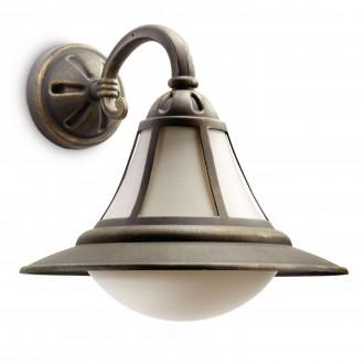 PHILIPS 15211/42/16 | Provence Philips zidna svjetiljka 1x E27 1570lm 2700K IP44 crno, antik zlato