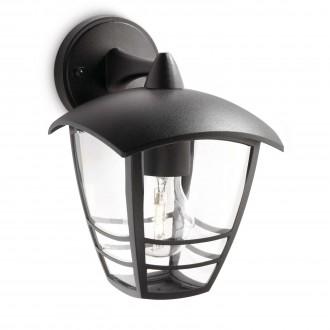 PHILIPS 15381/30/16 | CreekP Philips zidna svjetiljka 1x E27 IP44 crno