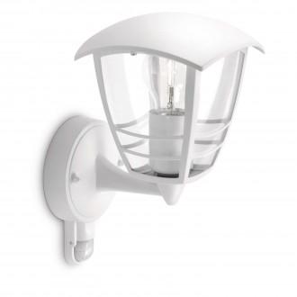 PHILIPS 15388/31/16 | CreekP Philips zidna svjetiljka sa senzorom 1x E27 IP44 bijelo