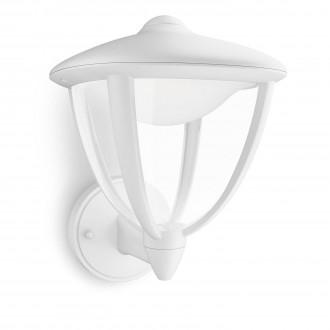 PHILIPS 15470/31/16   Robin Philips zidna svjetiljka 1x LED 430lm 2700K IP44 bijelo, prozirno