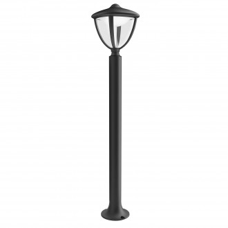PHILIPS 15473/30/16 | Robin Philips podna svjetiljka 85,5cm 1x LED 430lm 2700K IP44 crno, bijelo, prozirno
