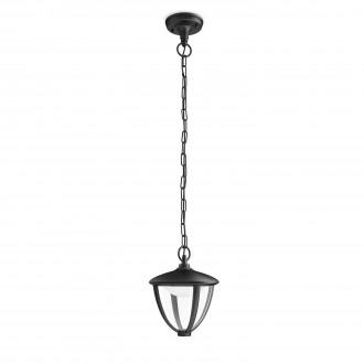PHILIPS 15476/30/16   Robin Philips visilice svjetiljka 1x LED 430lm 2700K IP44 crno, bijelo, prozirno