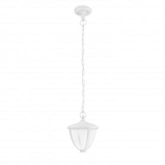 PHILIPS 15476/31/16 | Robin Philips visilice svjetiljka 1x LED 430lm 2700K IP44 bijelo, prozirno