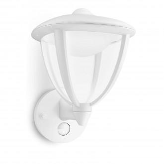 PHILIPS 15479/31/16 | Robin Philips zidna svjetiljka sa senzorom 1x LED 430lm 2700K IP44 bijelo, prozirno