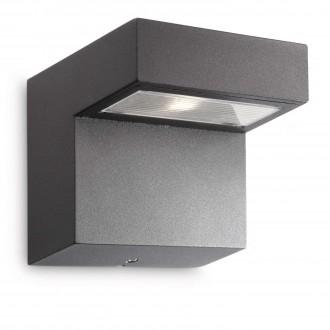 PHILIPS 16320/93/16 | Riverside Philips zidna svjetiljka 3x LED 300lm 2700K IP44 antracit