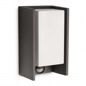 PHILIPS 16352/93/16 | Bridge Philips zidna svjetiljka sa senzorom 1x E27 970lm 2700K IP44 antracit siva