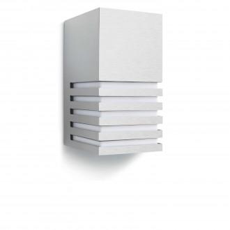 PHILIPS 16412/47/16 | Veranda Philips zidna svjetiljka 1x E27 1320lm 2700K IP44 plemeniti čelik, čelik sivo