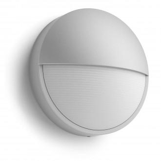 PHILIPS 16455/87/16 | Capricorn Philips zidna svjetiljka 1x LED 600lm 2700K IP44 sivo, bijelo