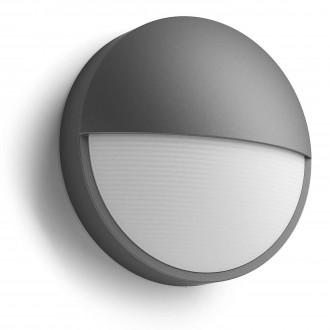 PHILIPS 16455/93/P3 | Capricorn Philips zidna svjetiljka 1x LED 600lm 4000K IP44 antracit, bijelo