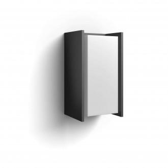 PHILIPS 16472/93/P0 | PHILIPS-hue-Turaco Philips zidna hue smart rasvjeta jačina svjetlosti se može podešavati 1x E27 806lm 2700K IP44 antracit siva