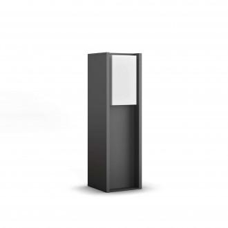 PHILIPS 16473/93/P0 | PHILIPS-hue-Turaco Philips podna hue smart rasvjeta 40,2cm jačina svjetlosti se može podešavati 1x E27 806lm 2700K IP44 antracit siva
