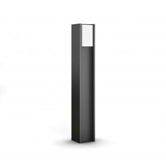 PHILIPS 16474/93/P0 | PHILIPS-hue_Turaco Philips podna hue smart rasvjeta 80,2cm jačina svjetlosti se može podešavati 1x E27 806lm 2700K IP44 antracit siva