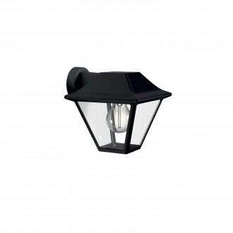 PHILIPS 16495/30/PN | Alpenglow Philips zidna svjetiljka 1x E27 IP44 crno, prozirno