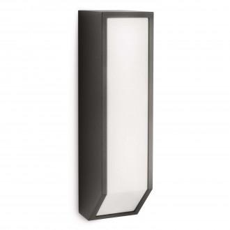 PHILIPS 16932/93/16 | Feather Philips zidna svjetiljka 1x E27 1100lm 2700K IP44 antracit siva