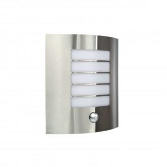 PHILIPS 17014/47/10 | Oslo Philips zidna svjetiljka sa senzorom 1x E27 IP44 inox, bijelo