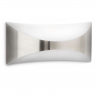 PHILIPS 17166/47/16 | Seedling Philips zidna svjetiljka 1x E27 1430lm 2700K IP44 plemeniti čelik, čelik sivo
