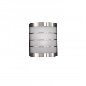 PHILIPS 17173/47/10 | CalgaryP1 Philips zidna svjetiljka za štednu žarulju 1x E14 IP44 inox, bijelo