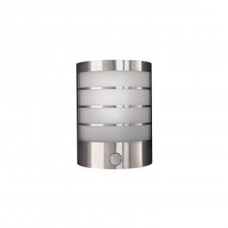 PHILIPS 17174/47/10 | CalgaryP1 Philips zidna svjetiljka sa senzorom za štednu žarulju 1x E14 IP44 inox, bijelo