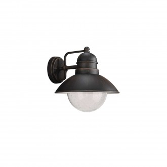 PHILIPS 17237/86/10 | Damascus Philips zidna svjetiljka 1x E27 IP44 rdža smeđe