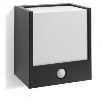 PHILIPS 17317/30/16 | Macaw Philips zidna svjetiljka sa senzorom 1x LED 320lm 2700K IP44 crno, bijelo