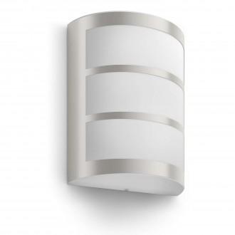 PHILIPS 17323/47/16 | Python Philips zidna svjetiljka 1x LED 600lm 2700K IP44 inox, bijelo