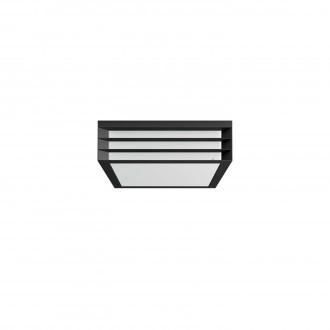 PHILIPS 17350/93/PN | Moonshine Philips zidna svjetiljka četvrtast 2x E27 IP44 antracit siva, bijelo