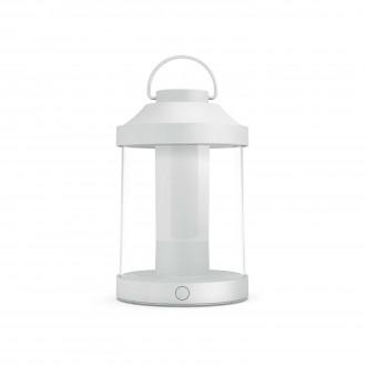 PHILIPS 17360/31/P0 | Abelia Philips nosiva svjetiljka cilindar sa tiristorskim prekidačem jačina svjetlosti se može podešavati, USB utikač 1x LED 350lm 2700K IP44 bijelo, prozirno