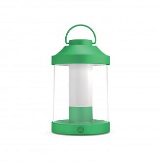 PHILIPS 17360/33/P0 | Abelia Philips nosiva svjetiljka cilindar sa tiristorskim prekidačem jačina svjetlosti se može podešavati, USB utikač 1x LED 350lm 2700K IP44 zeleno, bijelo, prozirno