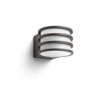 PHILIPS 17401/93/P0 | PHILIPS-hue-Lucca Philips zidna hue smart rasvjeta jačina svjetlosti se može podešavati 1x E27 806lm 2700K IP44 antracit siva, bijelo