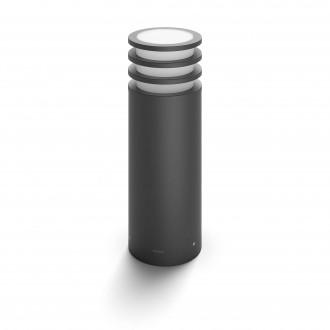PHILIPS 17402/93/P0 | PHILIPS-hue-Lucca Philips podna hue smart rasvjeta 40cm jačina svjetlosti se može podešavati 1x E27 806lm 2700K IP44 antracit siva, bijelo